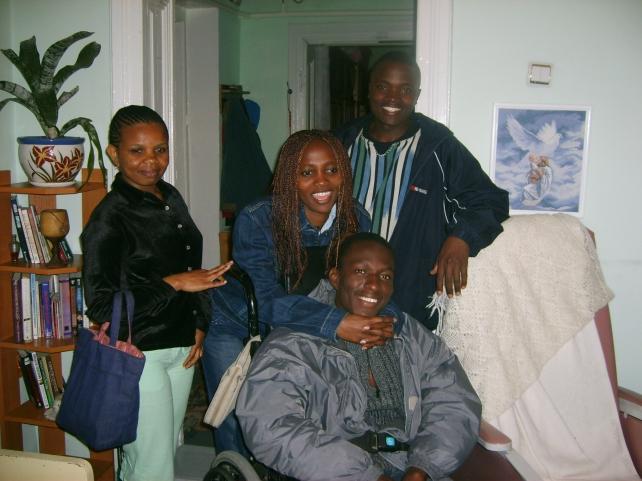 Kenyan students at Bible study