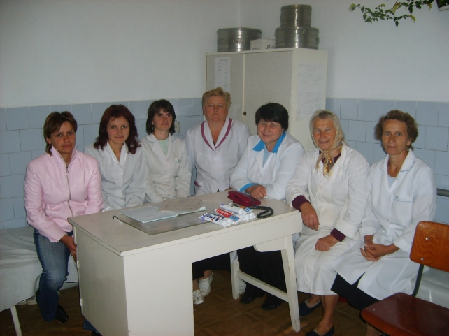 Women working at the clinic.
