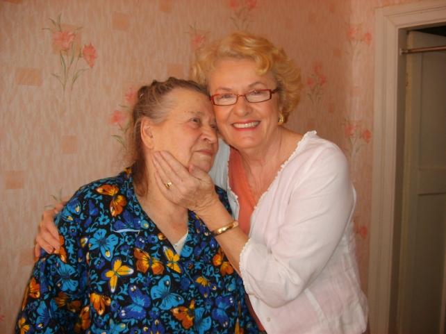 My mom Nancy and Baba Olya